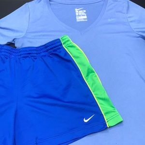 Nike Dri Fit tee & shorts athletic L/XL set 0037